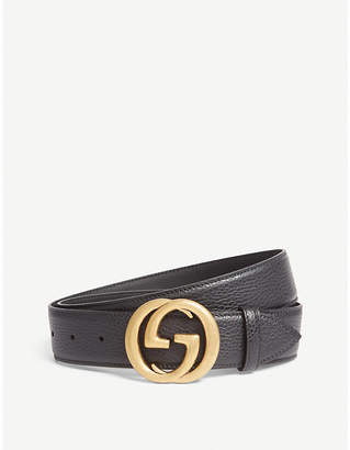 Gucci Interlocking GG leather belt