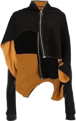 aganovich layered zip-up jacket