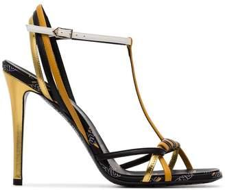 Fendi Strappy Logo High Heel Sandals