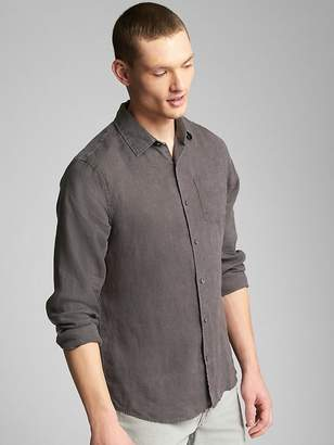 Gap Standard Fit Shirt in Pure Linen