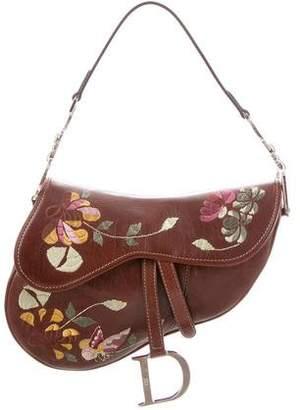 Christian Dior Romantic Flowers Saddle Bag