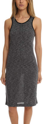 Warehouse ATM Sleeveless Melange Henley Dress