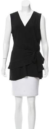 Proenza Schouler Asymmetrical Tie-Accented Top w/ Tags