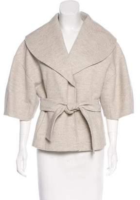 Oscar de la Renta Wool & Angora Blend Coat