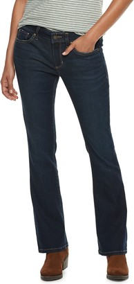 Sonoma Goods For Life Petite SONOMA Goods for Life Curvy Mid-Rise Bootcut Jeans