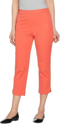 Isaac Mizrahi Live! Regular 24/7 Stretch Pull-On Crop Pants