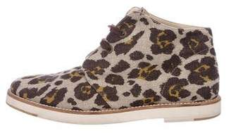 Stella McCartney Leopard Print Ankle Boots