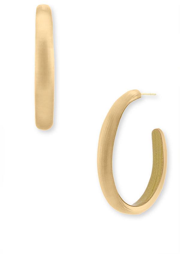Alexis Bittar Large Tapered Oval Hoop Earrings
