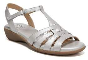Naturalizer T-Strap Leather Sandals