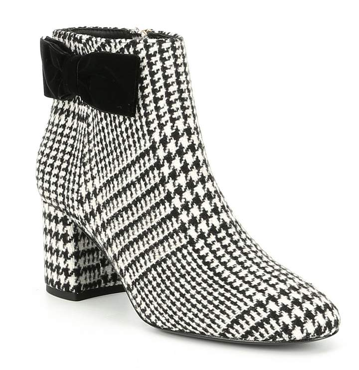 Kate Spade New York kate spade new york Harlie Houndstooth Bow Block Heel Dress Booties