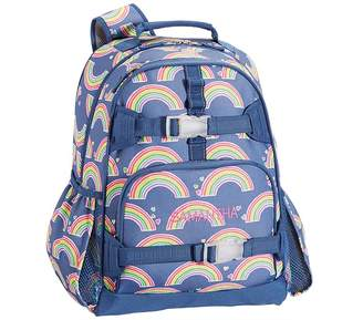 Pottery Barn Kids Mackenzie Blue Rainbow Lunch Bags