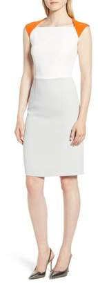 BOSS Dekala Colorblock Sheath Dress (Regular & Petite)
