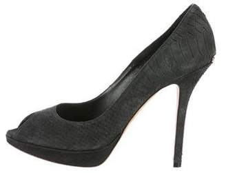 Christian Dior Embossed Suede Pumps