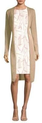 Peserico Long Linen Drawstring Cardigan