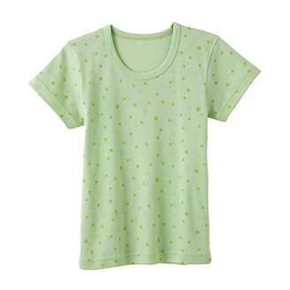 Gunze (グンゼ) - [グンゼ] インナーシャツ 暖さら ぽかぽか クルーネック ボーイズ KGV65 グリーン 日本 120 (日本サイズ120 相当)