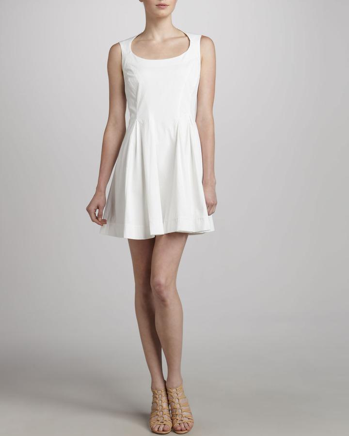 Zac Posen Sleeveless Fit & Flare Dress, White