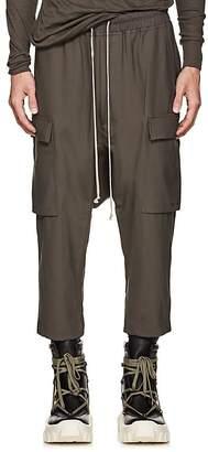 Rick Owens Men's Wool Drop-Rise Crop Trousers