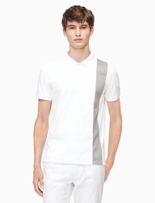 Calvin Klein slim fit colorblock stripe polo shirt