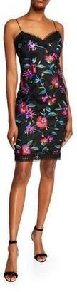 Aidan Mattox Floral Embroidered Crochet Dress