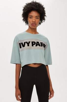 Ivy Park Sheer Flock Logo Crop T-Shirt