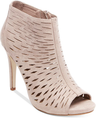 Madden Girl Rockella Perforated Dress Booties $59 thestylecure.com
