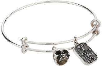 King Baby Studio - Adjustable Bangle Bracelet with Hamlet Skull Charm Bracelet $300 thestylecure.com