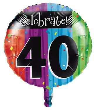 Creative Converting Milestone Celebrations 40th Birthday Mylar Balloon