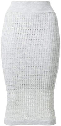 Alexander Wang fitted knit midi skirt