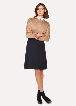 Paul Smith Women's Dark Navy Wool-Twill 'A Skirt To Travel In'