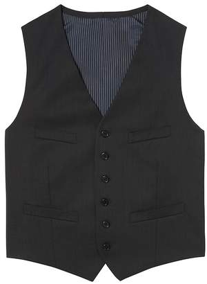 Banana Republic Solid Italian Wool Suit Vest
