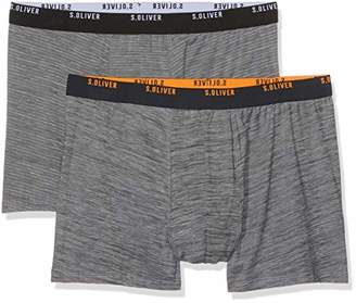 S'Oliver Big Size Men's 26.899.97.4287 Boxer Shorts, (Dark/Light Grey Melange 95w1), XXXX-Large