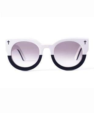 Valley Eyewear Dead Coffin Club Vintage White Sunglasses