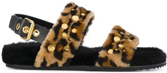 Car Shoe Leo fur sandals