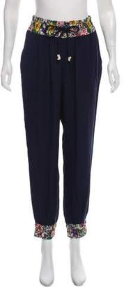 Band Of Outsiders High-Rise Silk Pants