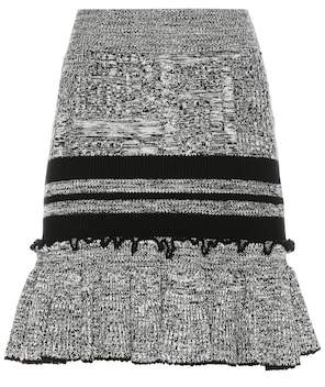 Alexander McQueen Wool and silk knitted skirt