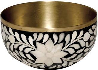 Mela Artisans Imperial Beauty Nut Serving Bowl - Black/White