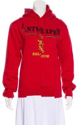 Vetements Hooded Graphic Print Sweatshirt