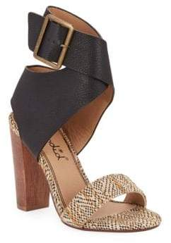 Splendid Jayla Leather Sandal Heels