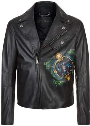 Versace Hand-Painted Leather Jacket