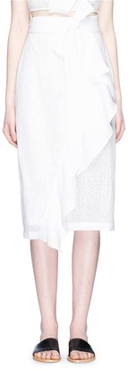 Marysia 'Seahaven' ruffle broderie anglaise wrap skirt $550 thestylecure.com