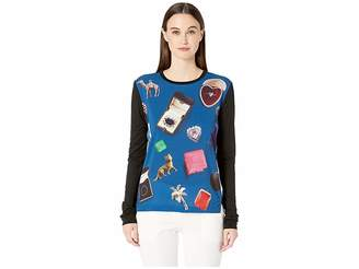 Paul Smith Picture Printed Long Sleeve Tee