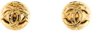 ChanelChanel CC Button Clip-On Earrings