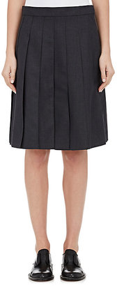 Thom Browne THOM BROWNE WOMEN'S WOOL-BLEND PLEATED SKIRT $1,200 thestylecure.com
