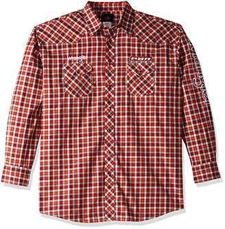 Wrangler Men's Size PBR Tall Long Sleeve Snap Front Western Logo Shirt