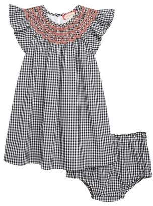 Ruby & Bloom Smocked Gingham Check Dress