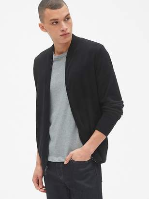 Gap Full-Zip Bomber Sweater