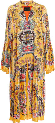 Etro M'O Exclusive Marigold Silk Midi Robe