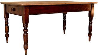 One Kings Lane Vintage 19th-C. English Pine Kitchen Table