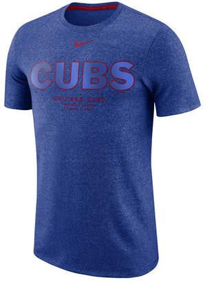 Nike Men Chicago Cubs Marled Stadium T-Shirt