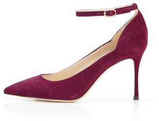 Marion Parke Muse | Suede Stiletto Pump With Ankle Strap